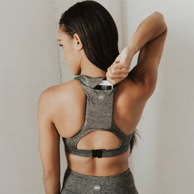 Hideaway Sports Bra - Granite