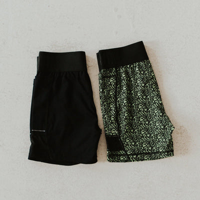 Champ Shorts 5 inch Inseam - Black