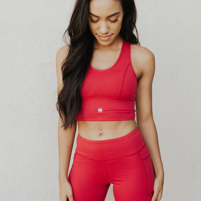 Zara Crop Top - Burnt Red