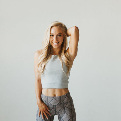 Malibu Crop Top - Cloud Gray