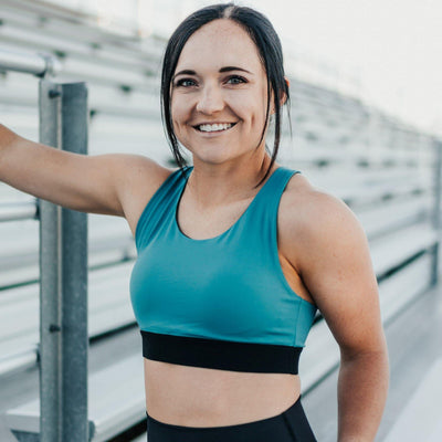Hustle Sports Bra - Surf