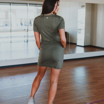 Refresh Dress - Pine Green
