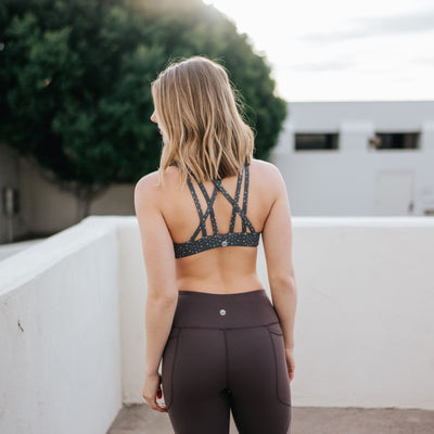 Strappy Sports Bra - Forget Me Not