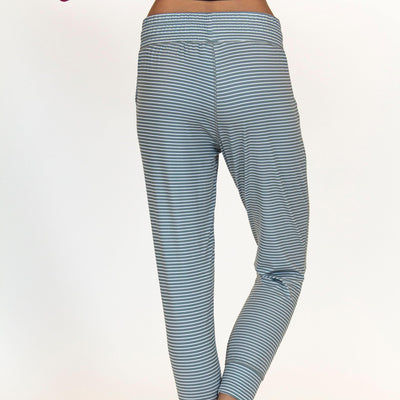 Weekend Joggers - Sage Stripe