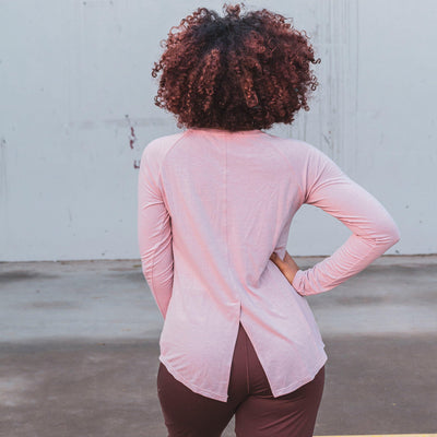 Tie Back Long Sleeve - Blush