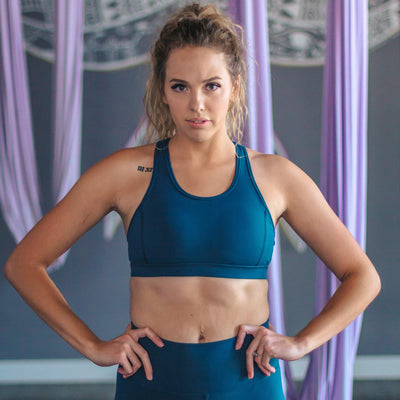 Hideaway Sports Bra - Pacific