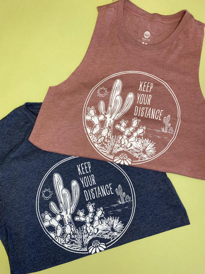 Keep Your Distance Tee - Navy