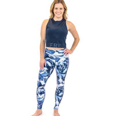 Amp Leggings - Blue Rosa