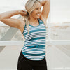 Relay Tank - Surf Stripe