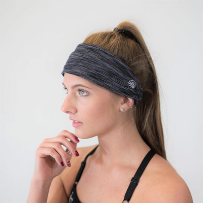 Accessories - Boho No-Slip Headband - Space Gray