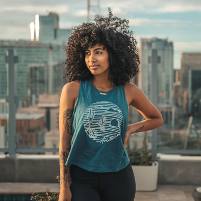 Arizona Cropped Tank - Blue - Senita Athletics