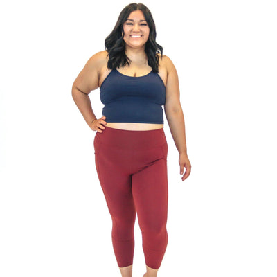 Ava Crop Top - Navy - Senita Athletics