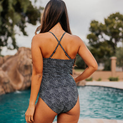Ava Tankini Top - Black Dot - Senita Athletics