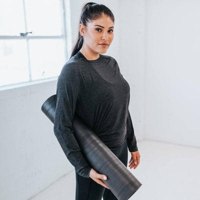 Barre Long Sleeve 2 - Black - Senita Athletics