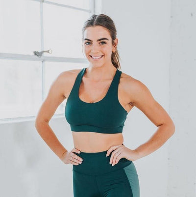 Barre Mesh Sports Bra - Ponderosa - Senita Athletics