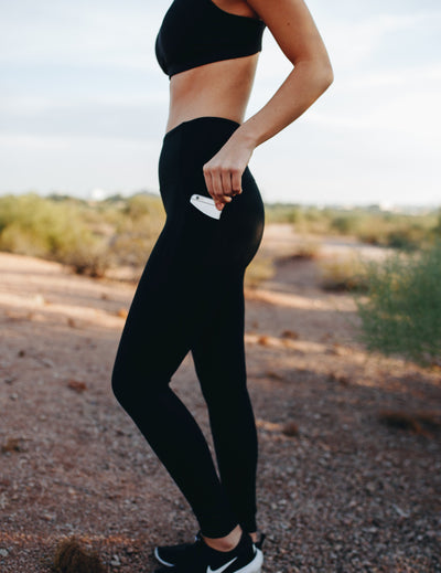 Bottoms - High Waisted Pants - Black