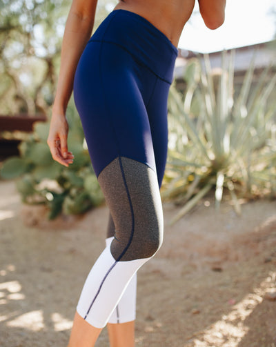 Bottoms - Triple Threat Capris - Blue