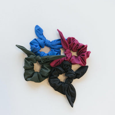 Bow Scrunchie - Evergreen - Senita Athletics
