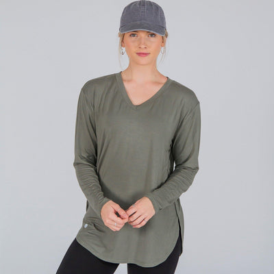Boyfriend Long Sleeve - Evergreen - Senita Athletics