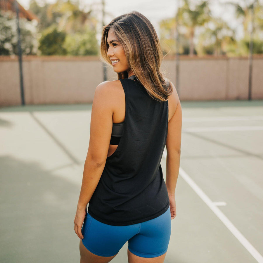Boyfriend Tank - Black - Senita Athletics