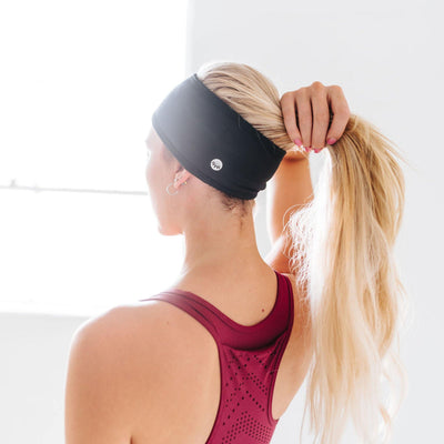 Cozy Thermal Headband - Black - Senita Athletics