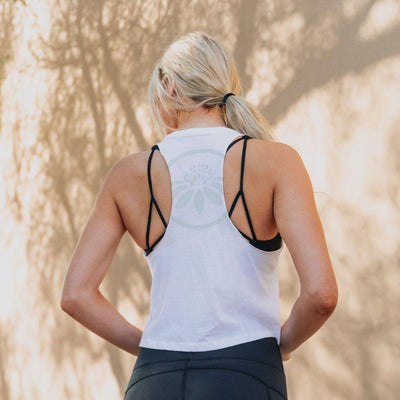 Cropped Tank - White - Senita Athletics