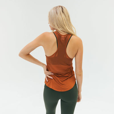 Extra Mile Mesh Back Tank - Copper - Senita Athletics
