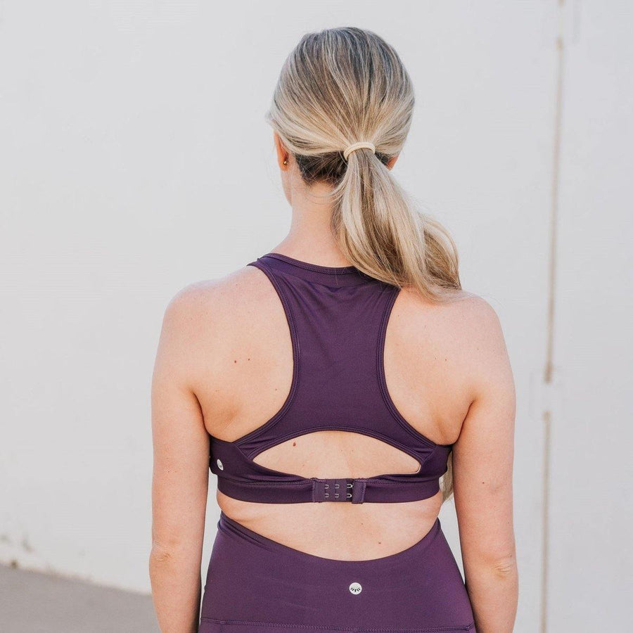 Go With The Flow Nursing Sports Bra - Eggplant - Senita Athletics