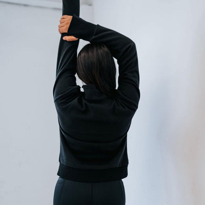 Hailey Classic Half Zip - Black - Senita Athletics