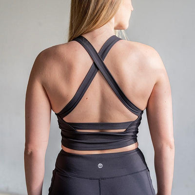 Harmony Crop Top - Black - Senita Athletics