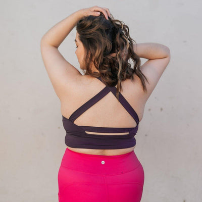 Harmony Crop Top - Eggplant - Senita Athletics