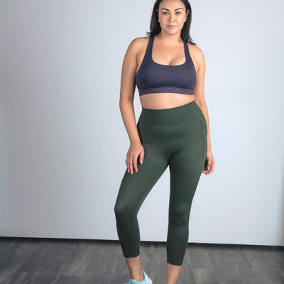 Lux Epic 7/8 Capris - Evergreen - Senita Athletics