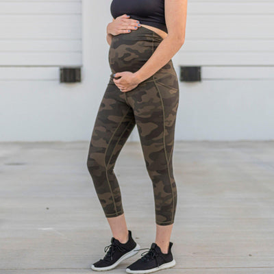 Maternity Skin Capris - Camo - Senita Athletics