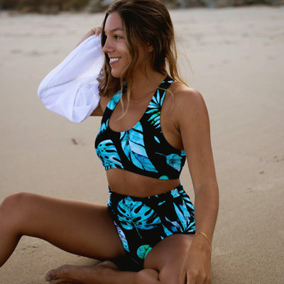 Page High Waisted Swim Bottoms - Fiji - Senita Athletics