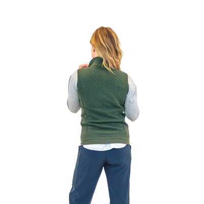 Quilted Vest - Evergreen - Senita Athletics