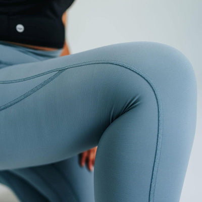 Ribbed Shakti Pants - Steel Blue - Senita Athletics