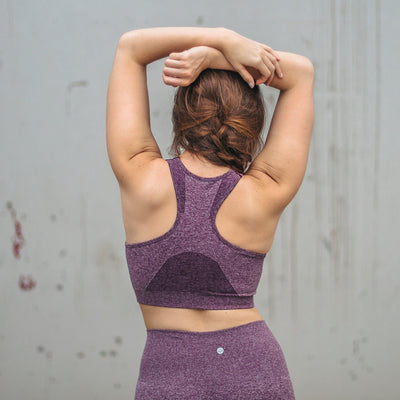 Seamless Power Sports Bra - Purple - Senita Athletics