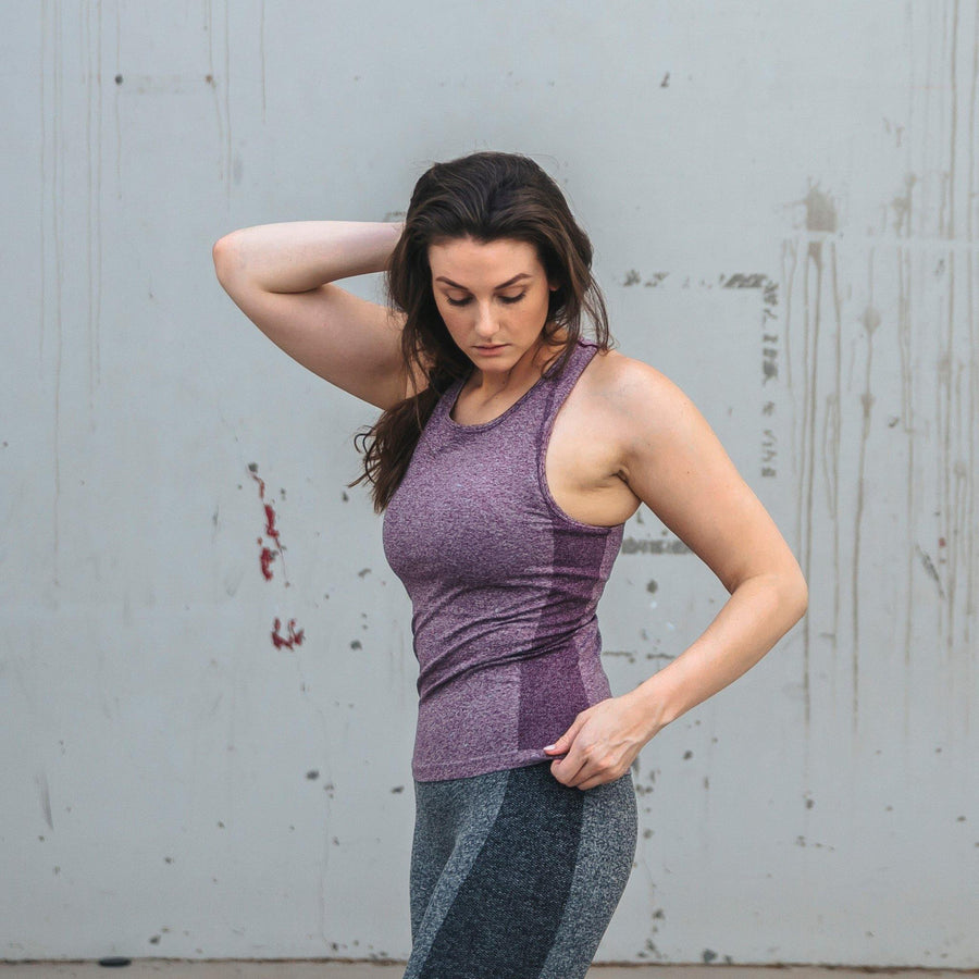 Seamless Power Tank Top - Purple - Senita Athletics