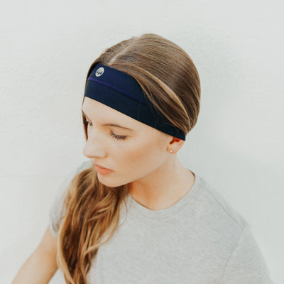 No-Slip Headband - Midnight Blue