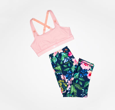 Speed Feed Nursing Sports Bra - Blush