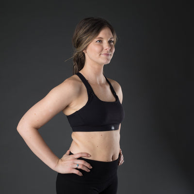 Speed Feed Nursing Sports Bra - Black