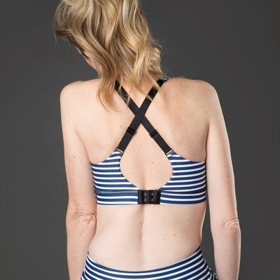 Speed Feed Nursing Sports Bra - Nautical Stripe