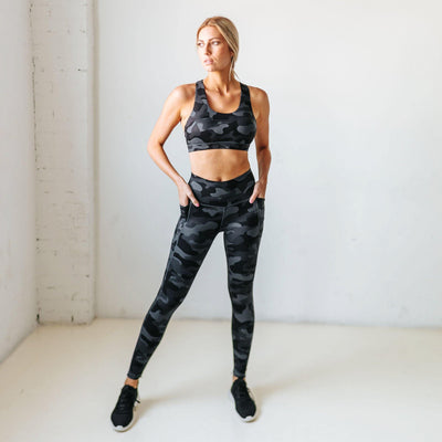 Shakti Pants - Black Camo - Senita Athletics