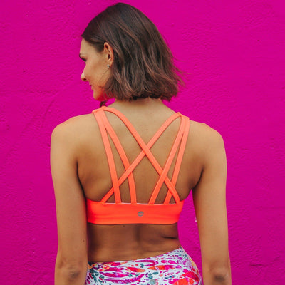 Strappy Sports Bra - Electric - Senita Athletics