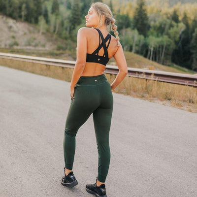 Studio Skin Joggers - Evergreen - Senita Athletics
