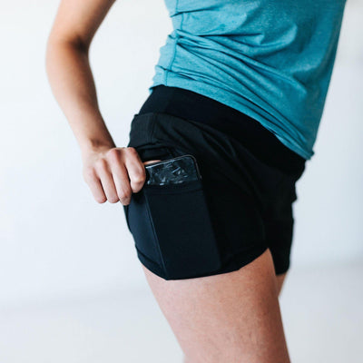 Swift Shorts 4 - Black - Senita Athletics