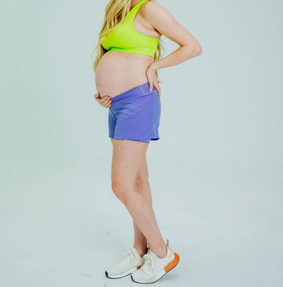 Under Panel Maternity Shorts - Iris - Senita Athletics