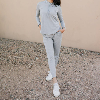 Weekend Joggers - Heathered Gray - Senita Athletics