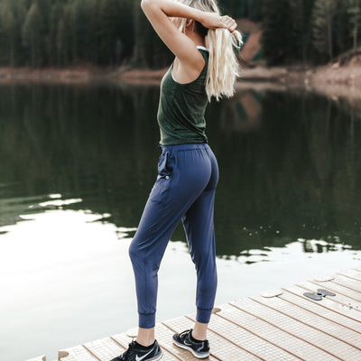 Weekend Joggers - Light Navy - Senita Athletics