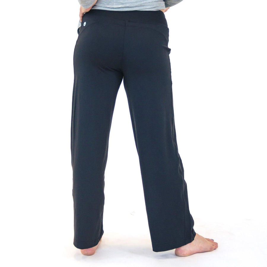 Wide Leg Lounge Pants - Black - Senita Athletics